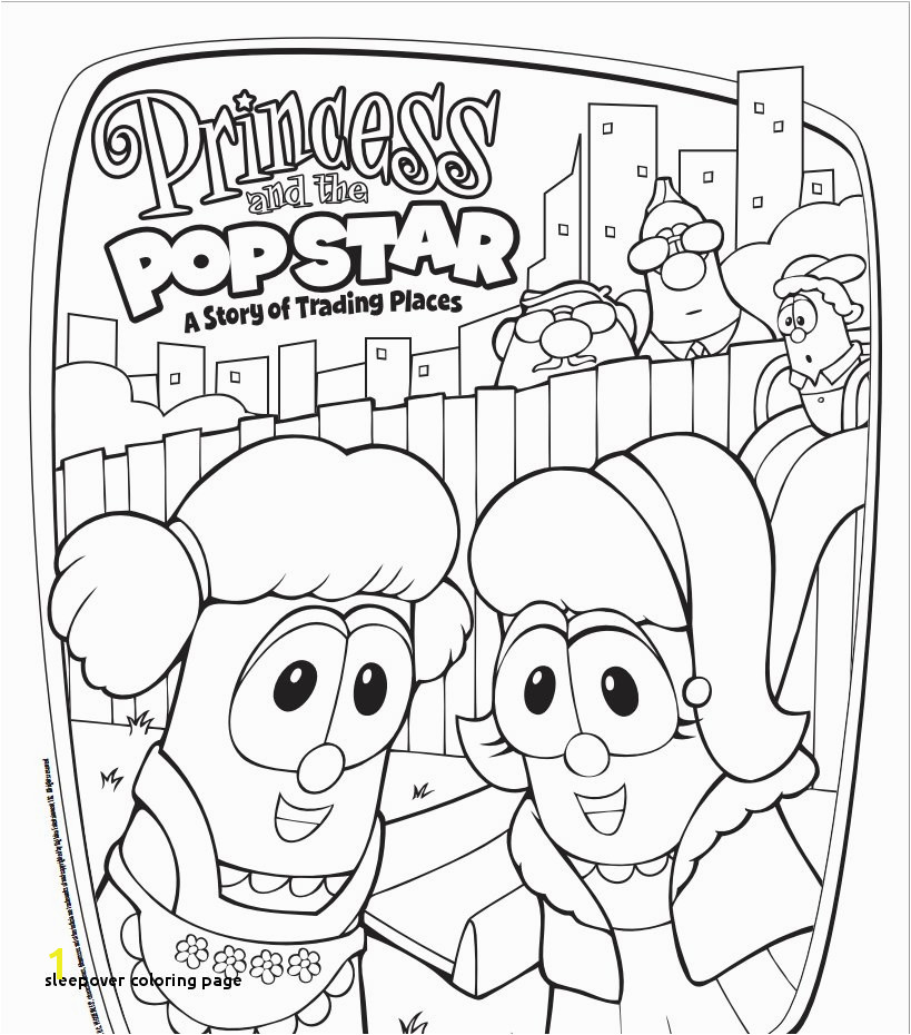 Free VeggieTales Princess and the Popstar Coloring Page