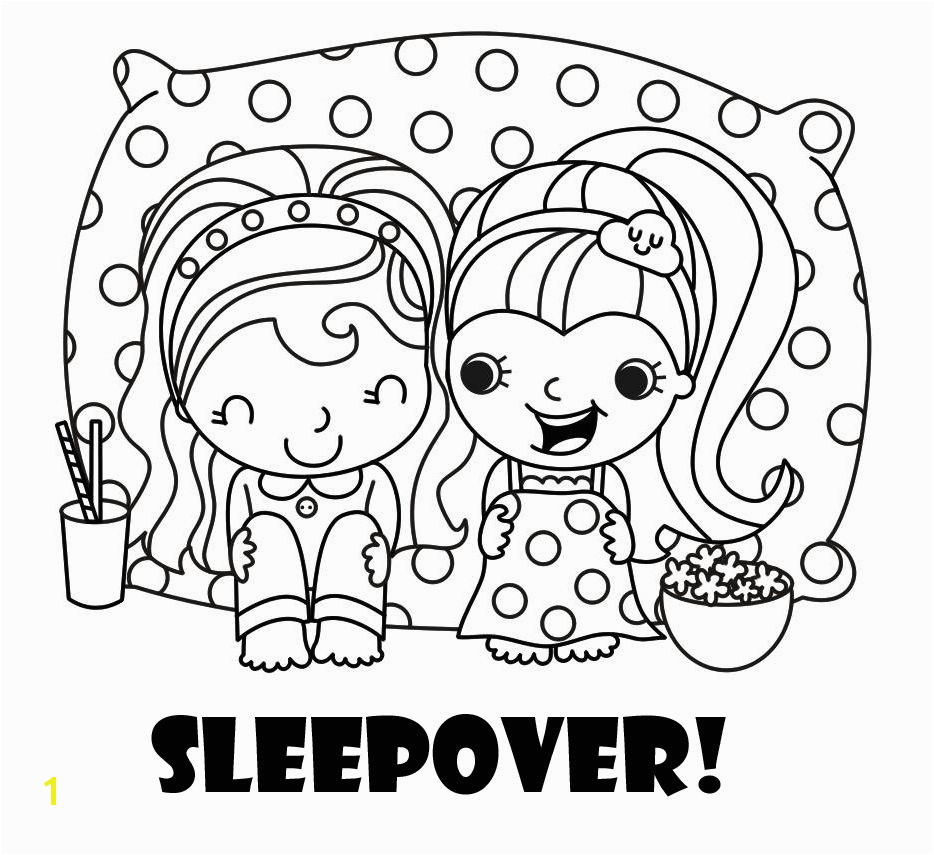 Sleepover Coloring Pages To Print
