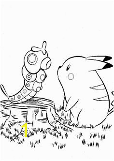 Pikachu And Caterpie Pokemon Coloring Page Pikachu Coloring Page Cartoon Coloring Pages Coloring Book