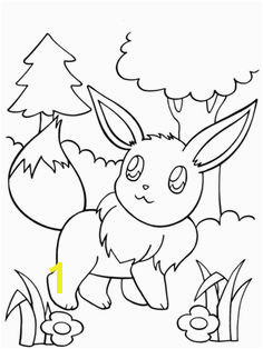 Eevee Coloring page Pokemon Coloring Pages Flower Coloring Pages Coloring Pages For Kids