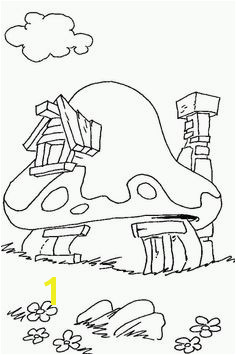 30 Decoration Creche Smurf House Doodle Art House Colouring Pages Coloring Book