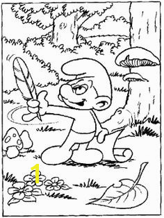 Printable Clumsy The Smurf Coloring Pages The Smurf Coloring Pages KidsDrawing – Free Coloring