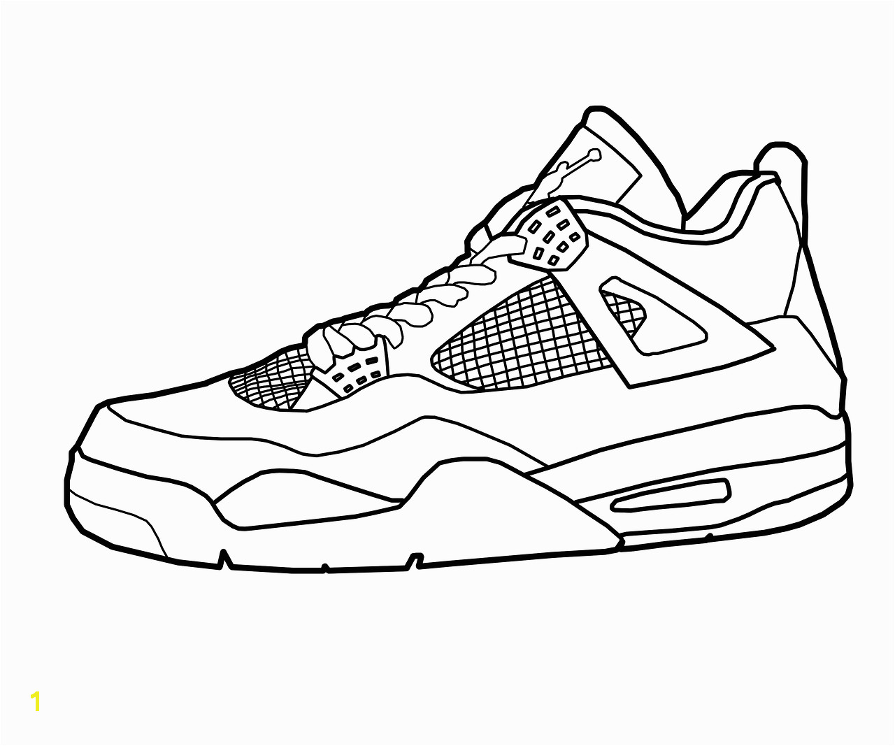 Sneaker Coloring Page Printable Tennis Shoe Coloring Page at Getcolorings