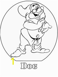 Doc Snow White and the Seven Dwarfs Disney Coloring Pages Snow White Coloring
