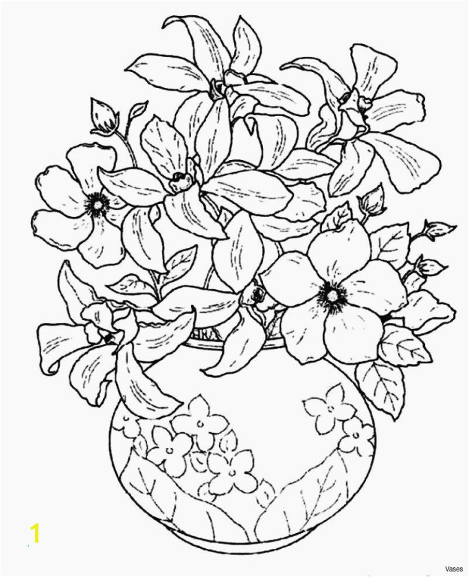 Elegant Cool Vases Flower Vase Coloring Page Pages Flowers In A top I 0d Luxury