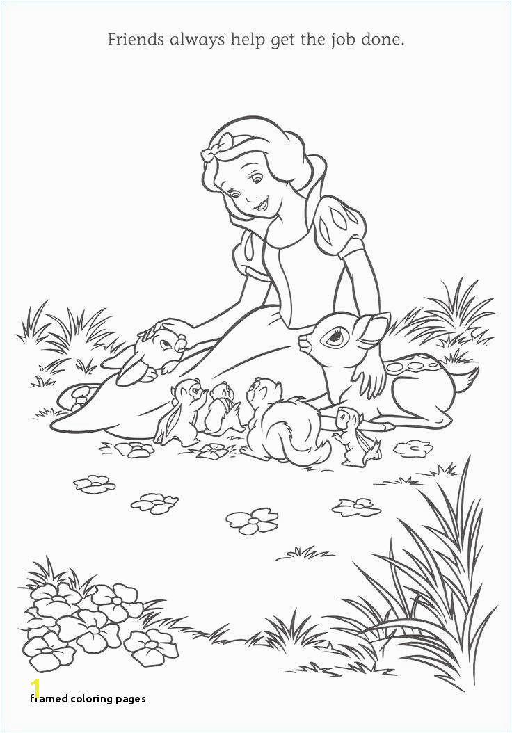 Fine Princess Snow White Coloring Pages Adornment Framing Coloring