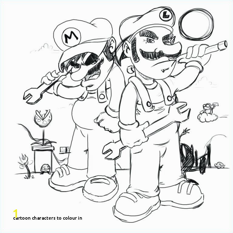 Cartoon Characters to Colour In and Color Pages Unique Luigi Coloring Pages O D Colouring