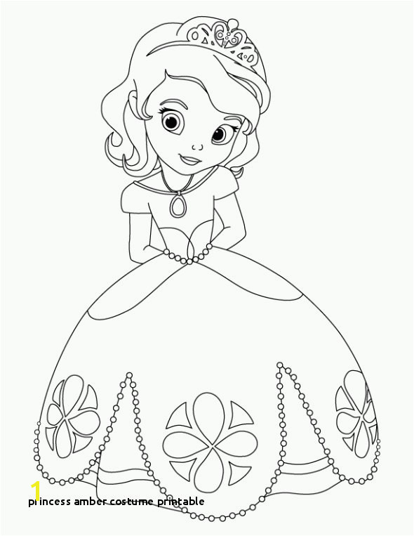 Sofia the First Coloring Page Princess Amber Costume Printable Princess sofia the First Coloring