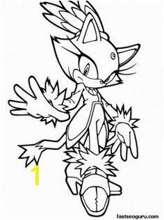 Printable Sonic the Hedgehog Blaze Coloring pages Printable Coloring Pages For Kids