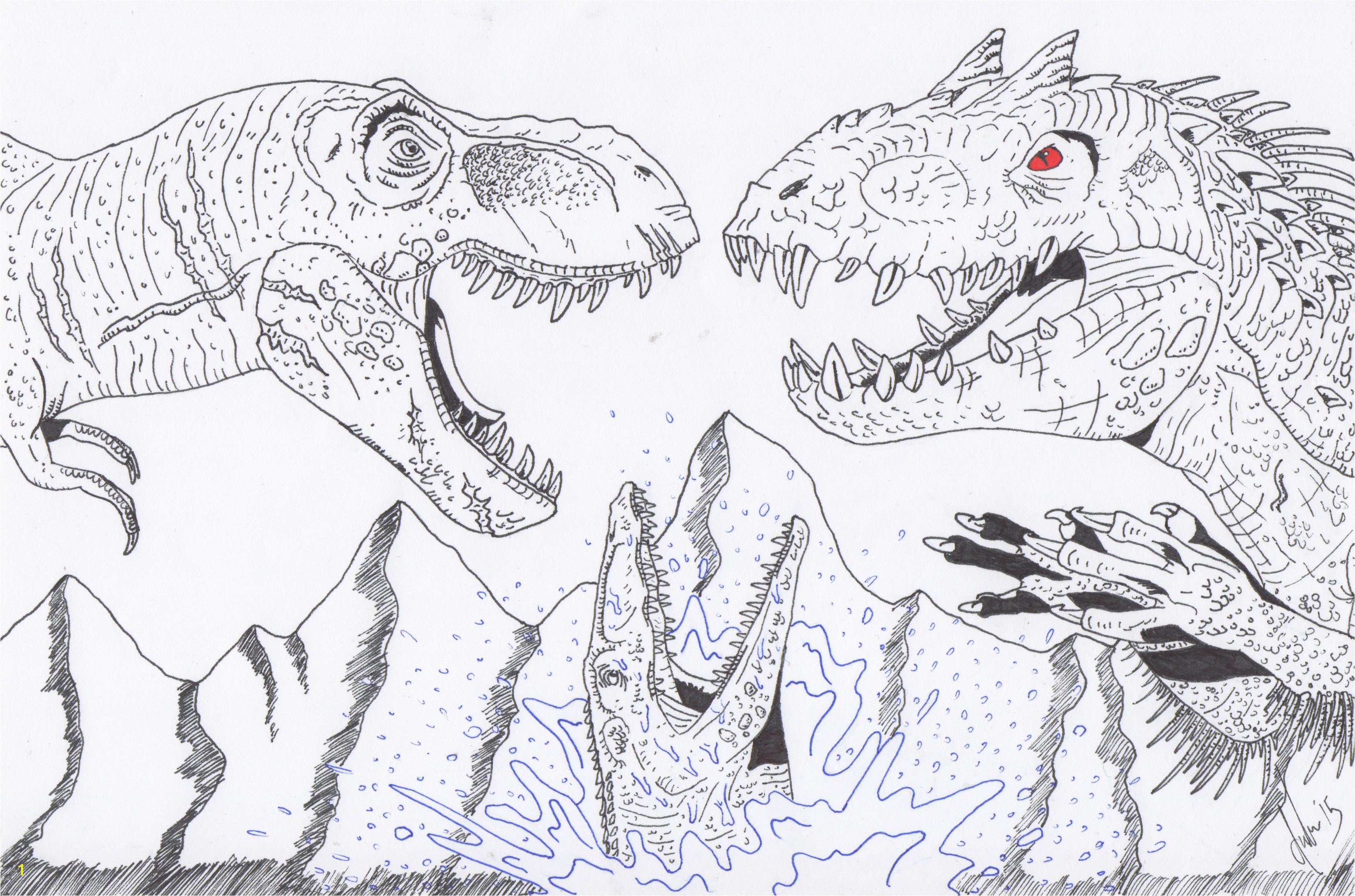 Ausmalbilder Jurassic Park Schön Jurassic Park Spinosaurus Coloring Pages Jurassic Park Jurassic