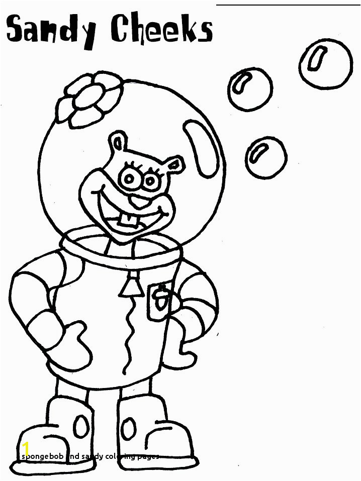 Sandy Cheeks coloring page Spongebob birthday in 2018