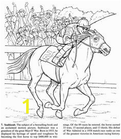 Horse Coloring Page of the Famous Seabiscuit Horse Coloring Pages Printable Coloring Pages Adult