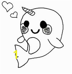 Cute Baby Narwhal Coloring Pages Draw Cute Baby Animals Super Cute Animals Zoo Coloring