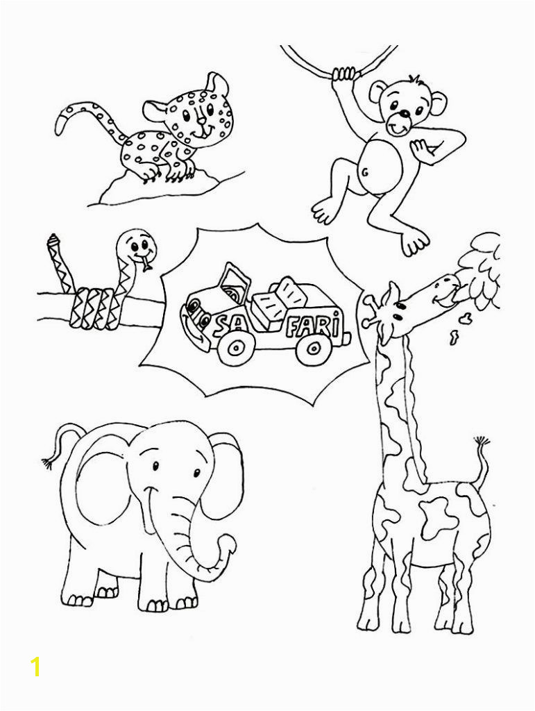 Wild Animal Coloring Pages Safari