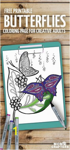 Print these beautiful butterflies coloring pages for adults these stunning Spring and Summer coloring pages