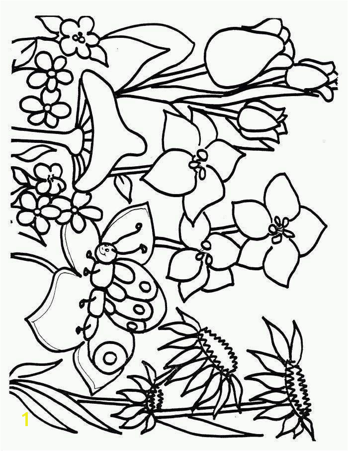 Adults Spring Coloring Pages Best Related Post