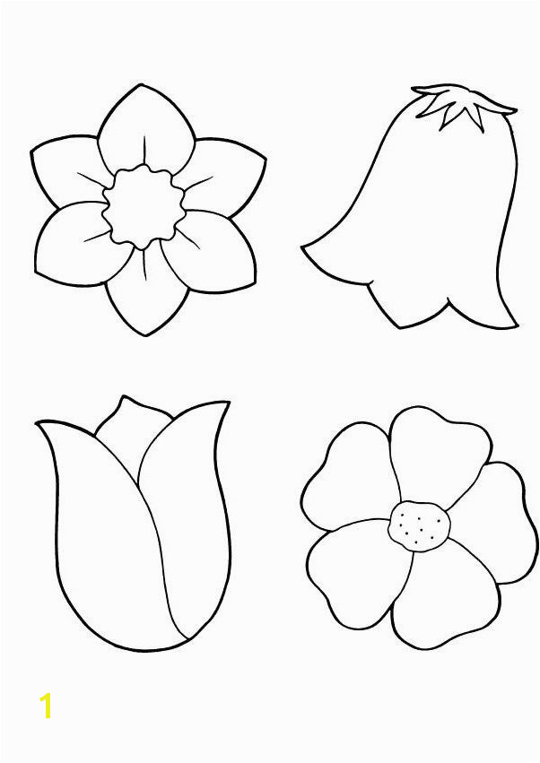 Spring Flowers Coloring Printout Spring day cartoon coloring pages