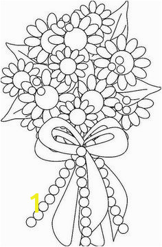 Flower Bouquet Coloring Page by ktsaltishok via Flickr Coloring Sheets Adult Coloring Pages