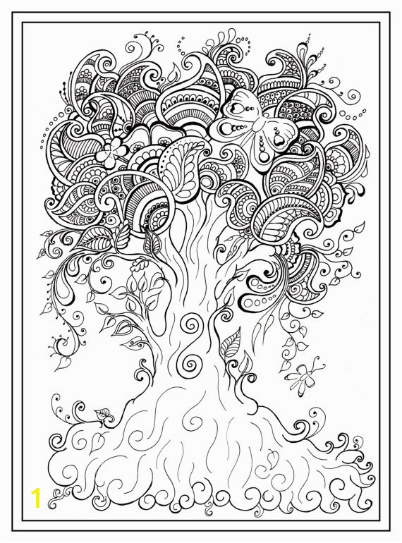 Adult colouring in PDF tree dragonfly henna zen mandalas garden anti stress mindfulness flowers