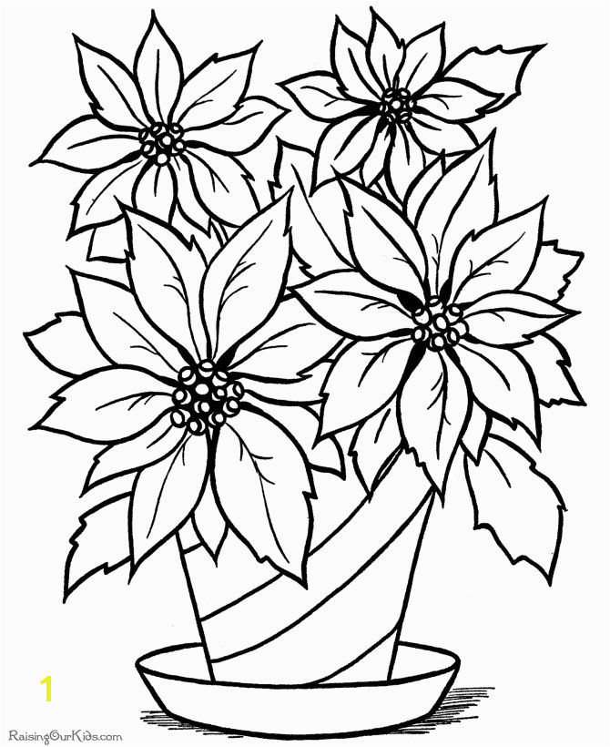Spring Flowers Coloring Pages Pdf Christmas Flower Printable Coloring Page