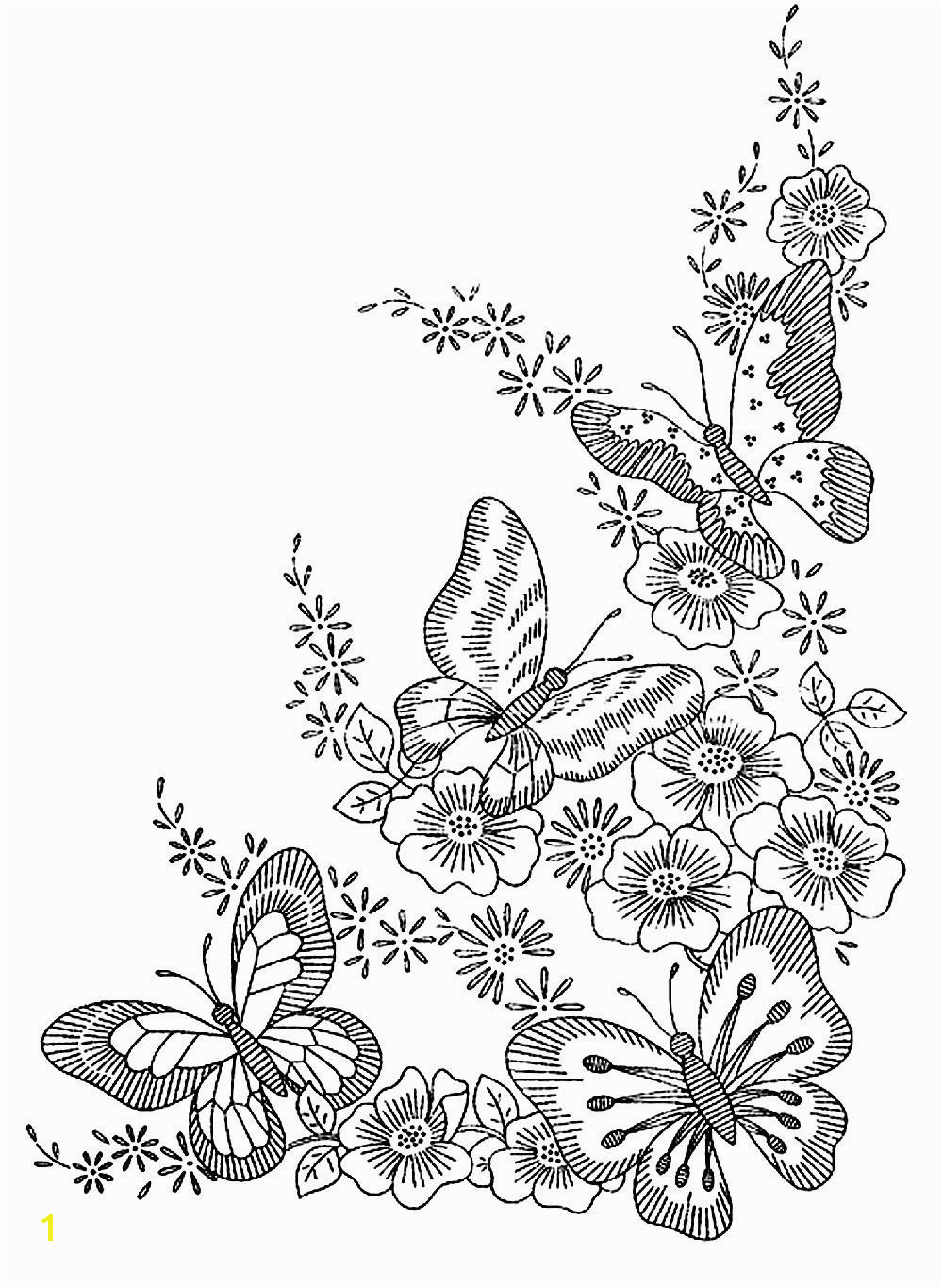 To print this free coloring page coloring adult difficult butterflies click on the printer icon at the right