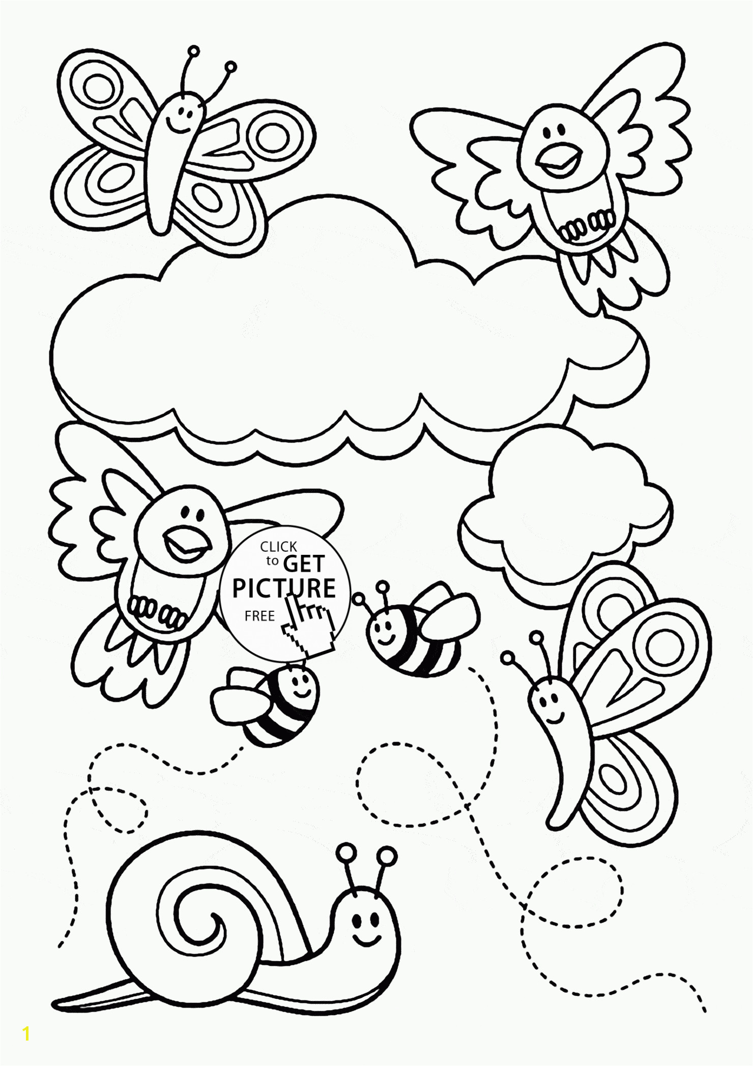 Awesome Free Printable Spring Coloring Pages for Adults Collection 7 s Spring Scene Coloring