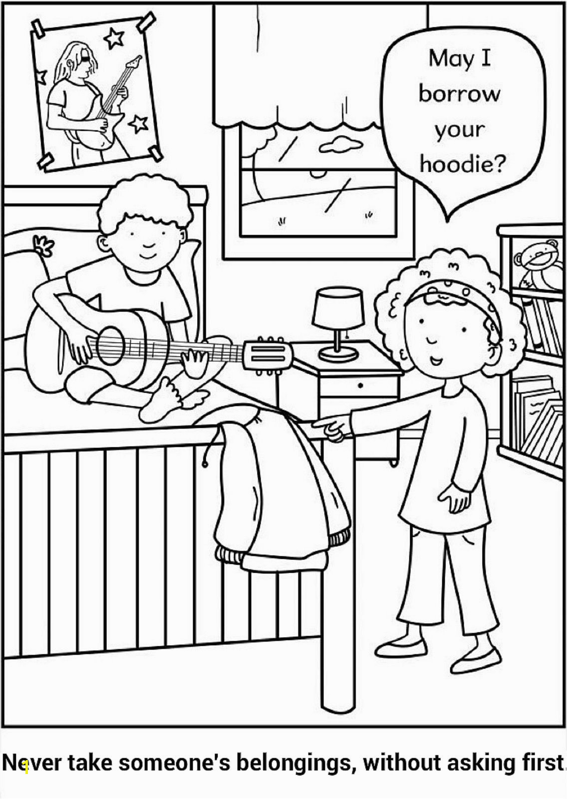 do not steal coloring page sunday school coloring pages
