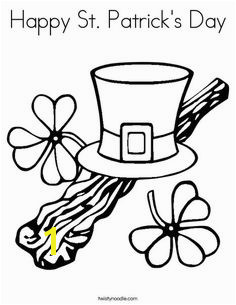 Happy St Patrick s Day Coloring Page