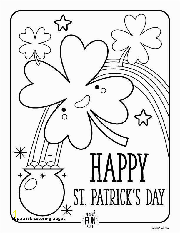 Patrick Coloring Pages Unique St Patrick Coloring Pages Free Printable Coloring Pages St Patrick S