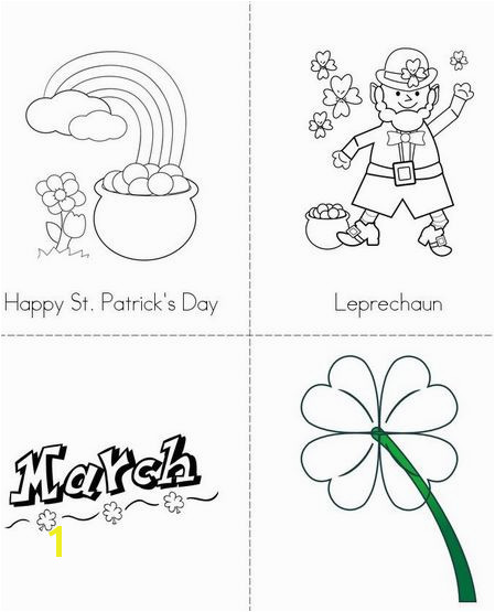 St Patricks Day Coloring Pages Worksheets Printables for Kindergarten and Kids