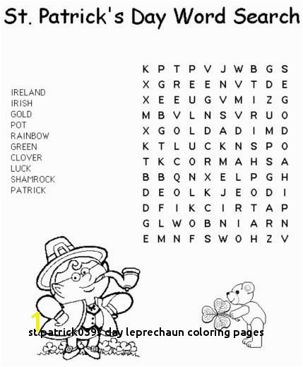 St Patrick039s Day Leprechaun Coloring Pages Beautiful St Patrick Day Coloring Pages Crafts Heart Coloring Pages