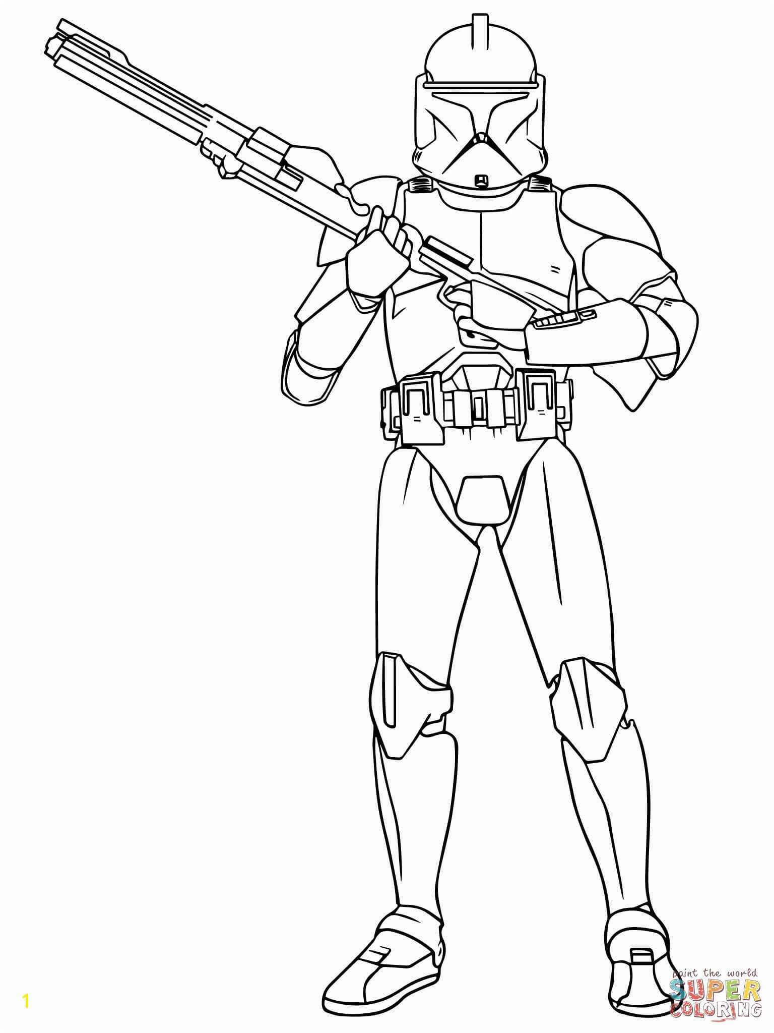 Star Wars Coloring Pages for Kids Star Wars Clone Trooper Coloring Pages Download