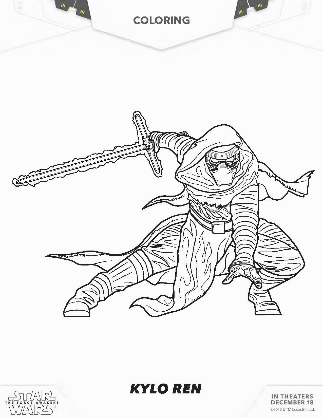 Ausmalbilder Star Wars Rogue e Luxus Collection force Awakens Coloring Pages