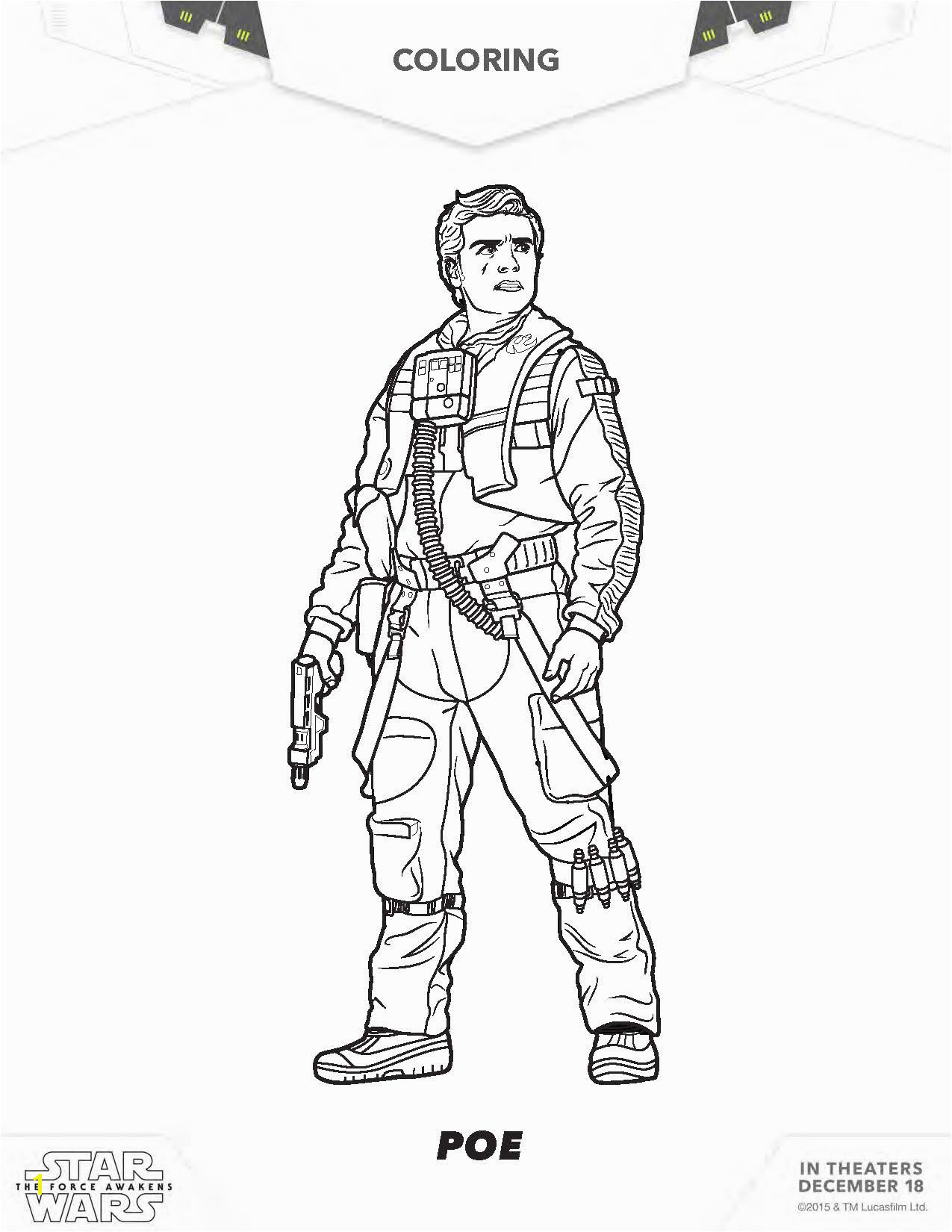 star wars rey coloring pages star wars poe coloring pages the force awakens