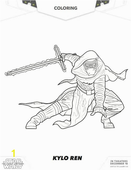 Star Wars Free Kylo Ren Coloring Star Wars Free Coloring Pages Star Wars The Force Awakens Coloring Pages