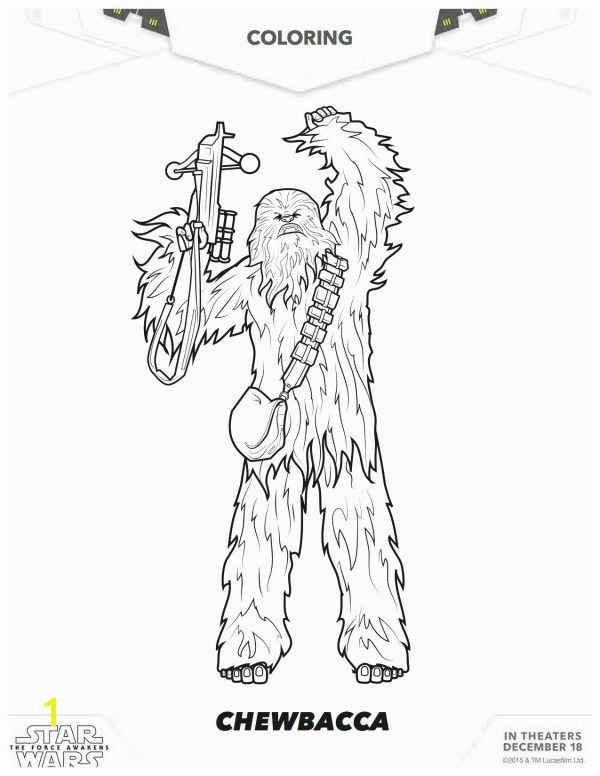 Star Wars The Force Awakens Chewbacca Coloring Page Disney