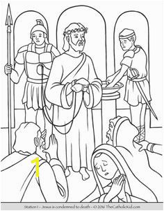 Stations of the Cross Coloring Pages 1 Jesus is condemned to