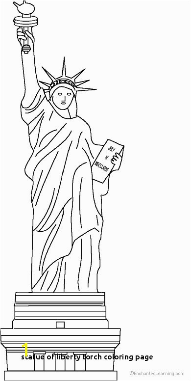 Statue Liberty Coloring Pages to Print Statue Liberty Coloring