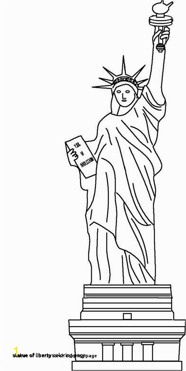 Statue Liberty torch Drawing at Getdrawings Coloring Page Statue