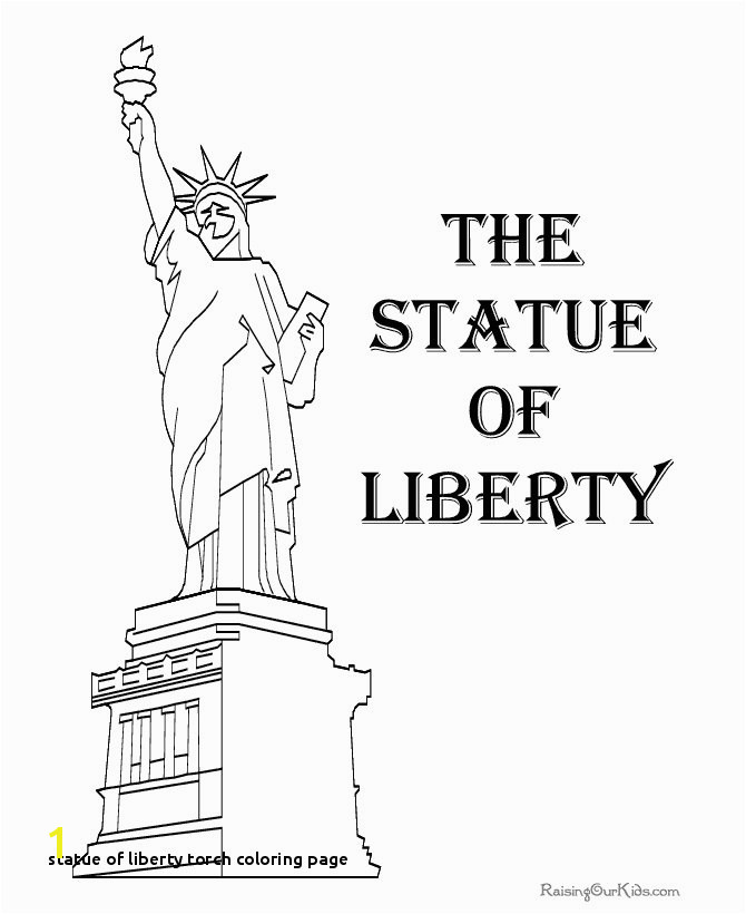 Statue Liberty torch Coloring Page Coloring Page Statue Liberty Statue Liberty Coloring Pages to