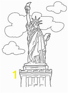 Free Statue of Liberty Coloring Pages Liberty Kids Liberty Print Craft Free