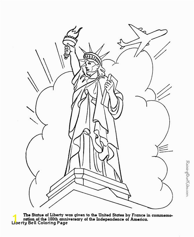 Liberty Bell Coloring Page Statue Liberty Coloring Page Statue Liberty torch Drawing at