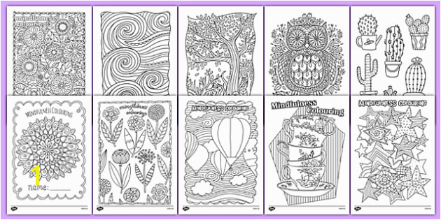 Mindfulness Colouring Sheets Bumper Pack mindfulness colouring
