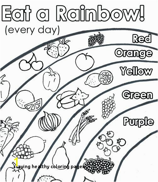 Staying Healthy Coloring Pages Healthy Foods Drawing at Getdrawings