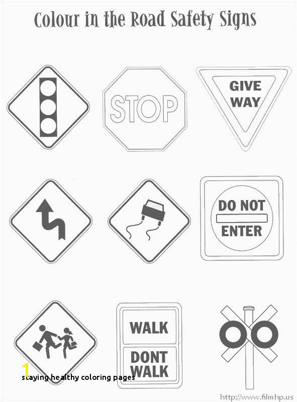 Staying Healthy Coloring Pages Traffic Safety Signs Coloring Pages …