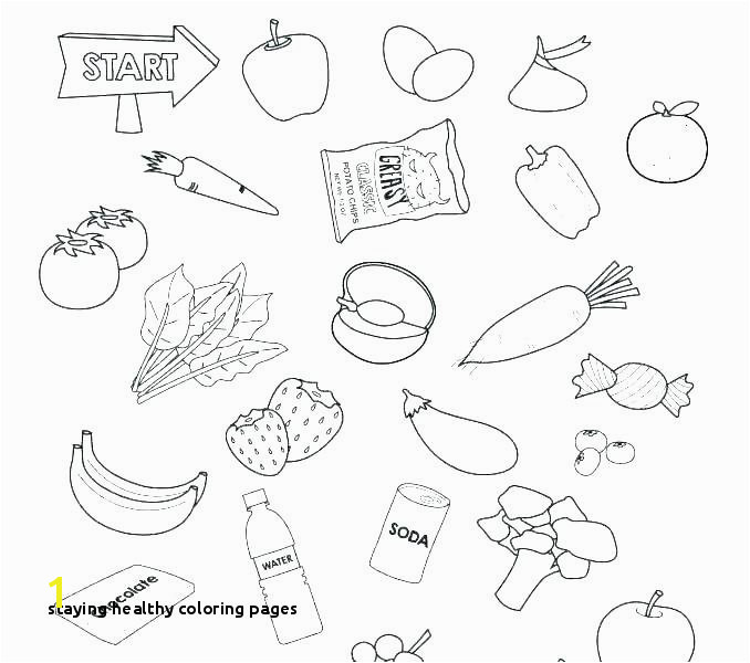 Staying Healthy Coloring Pages Healthy Food Coloring – Roundhere