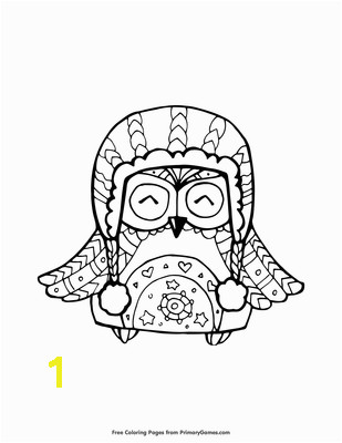 Open PDF File Owl in Winter Hat