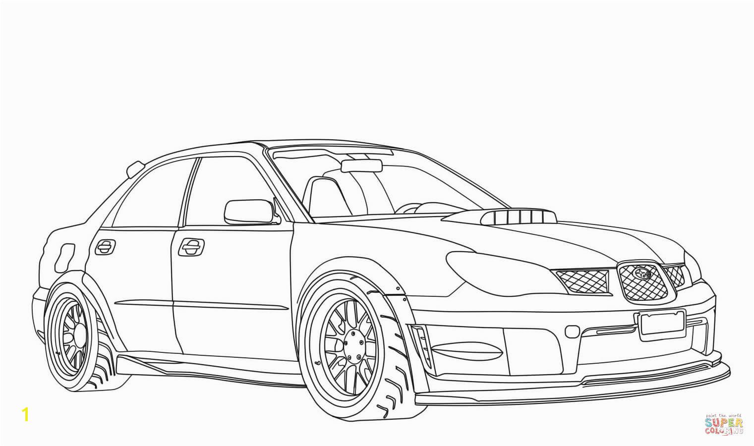 Printable Subaru Impreza Wrx Sti Coloring Page