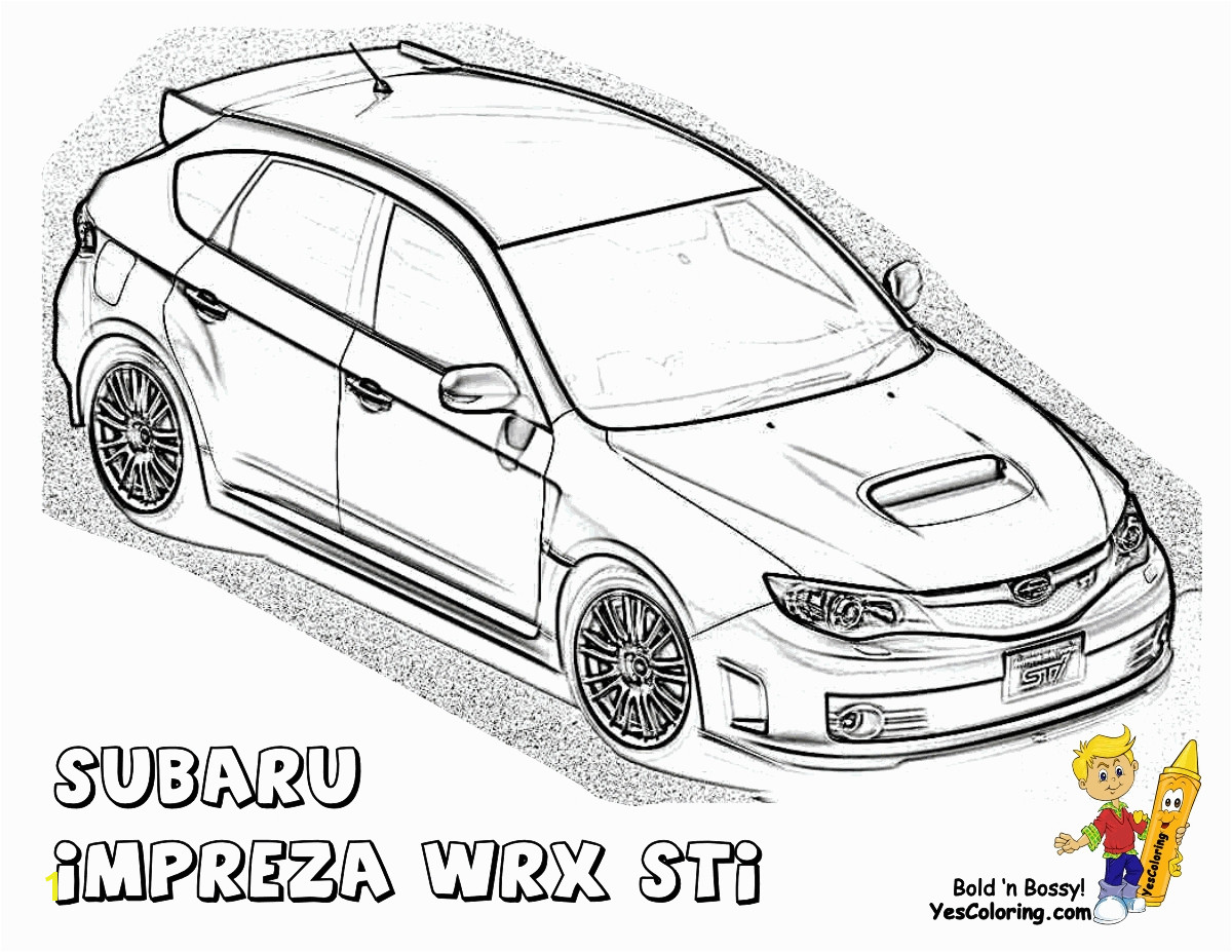 Printable Subaru Impreza Coloring Pages Gallery