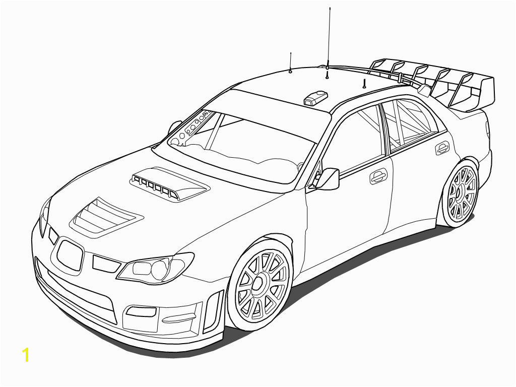 Printable Subaru Impreza Rally Car Coloring Pages Coloring Pages